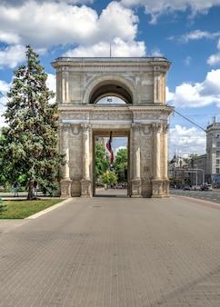 Arco triunfal en chisinau, moldavia