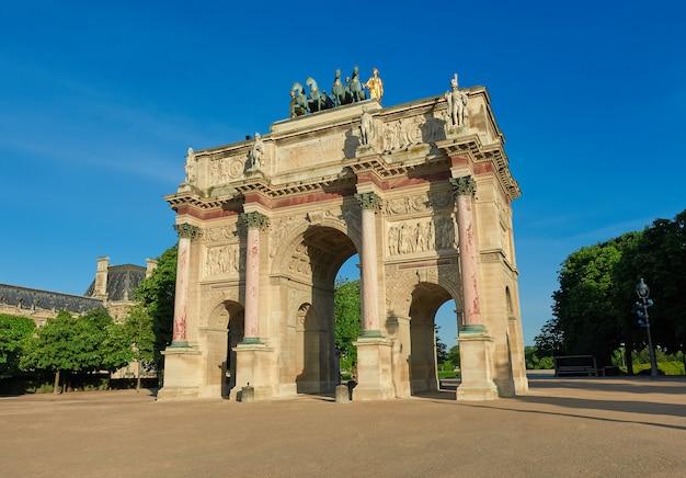 Arco del triunfo del carrusel en parís