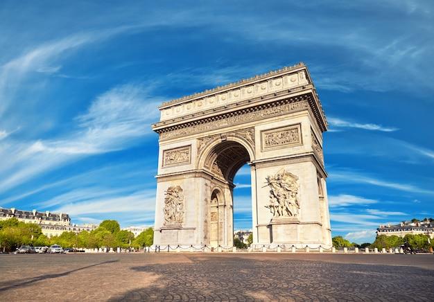 Arco de triunfo en parís, francia