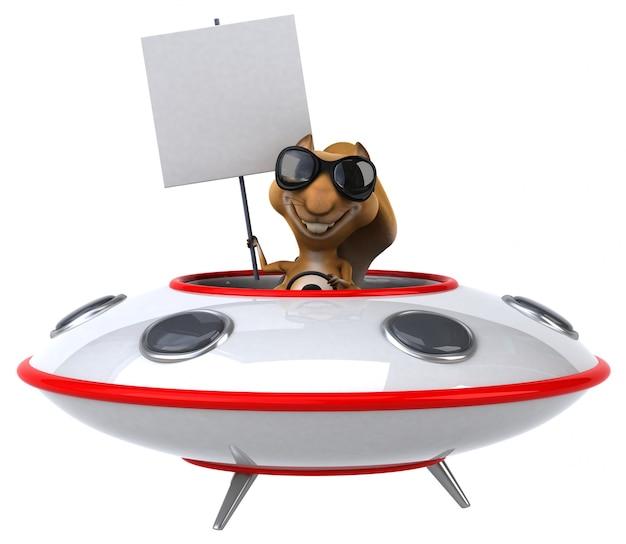 Ardilla divertida - personaje 3d