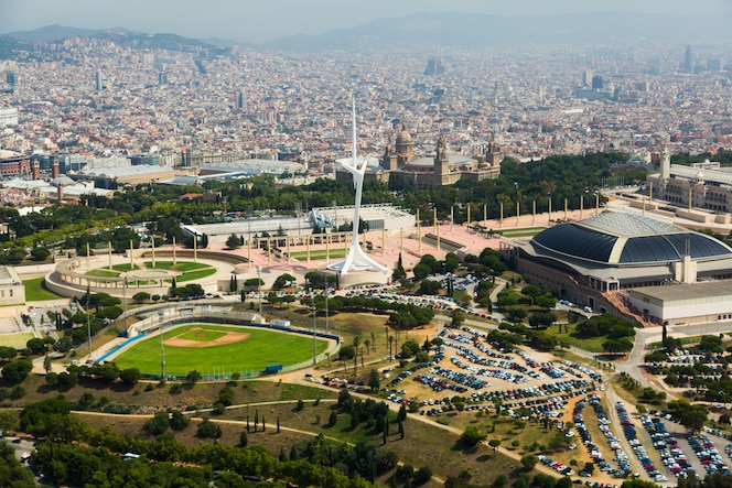 área olímpica de montjuic. barcelona