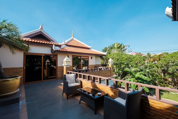 Área de relax en el resort
