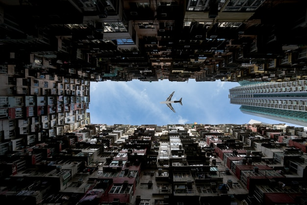 Área de residencias de la ciudad de hong kong