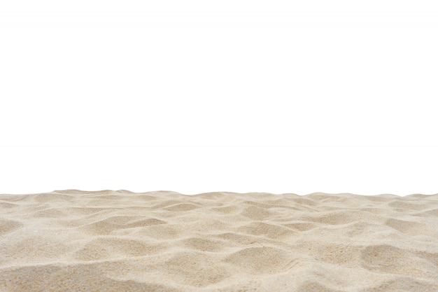 Arena de playa aislada