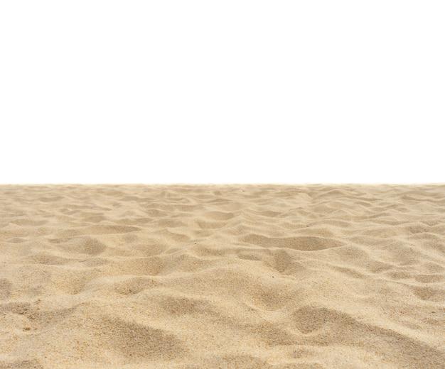 Arena de playa en blanco