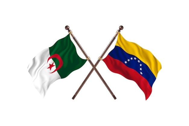 Argelia contra venezuela dos banderas