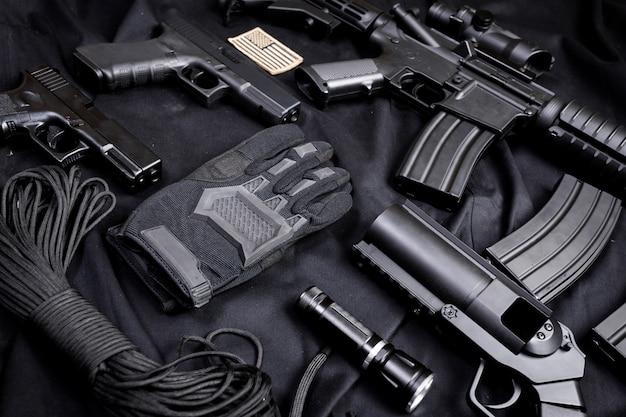 Arma moderna, negra
