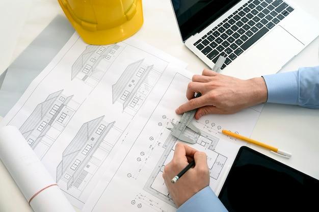 Arquitectos trabajando