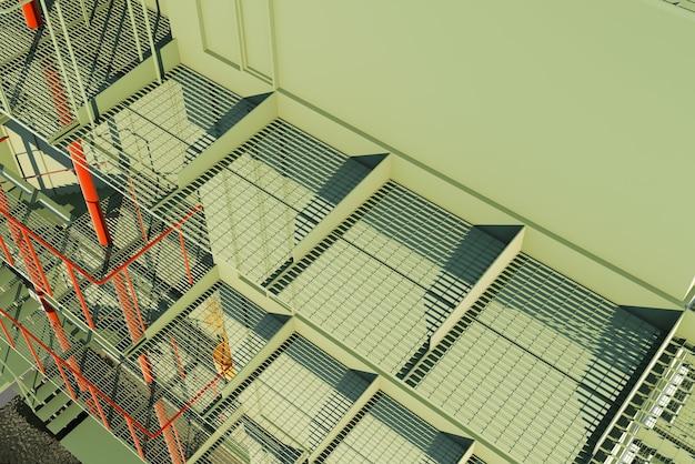 Arquitectura 3d, obra arquitectónica, techo transparente
