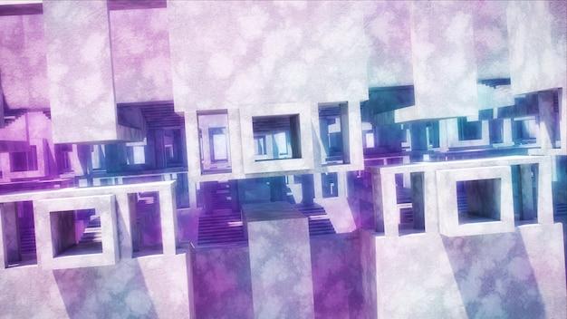 Arquitectura abstracta moderna. estructuras de hormigón.