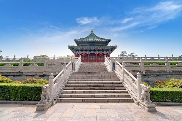 Arquitectura clásica en xi'an, provincia de shaanxi, china.