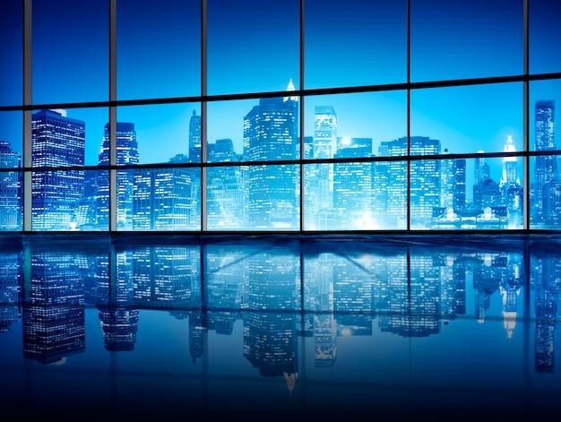 Arquitectura interior moderna de nueva york