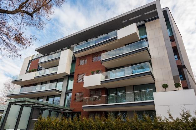Arquitectura moderna de apartamentos