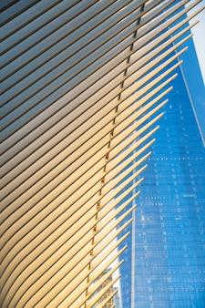 Arquitectura moderna de la ciudad de nueva york