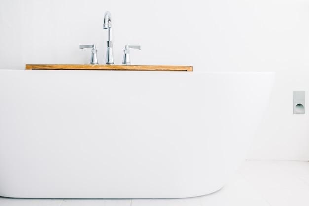 Arquitectura de la relajación baño de ducha blanco