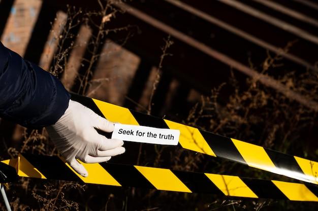 Arreglo del concepto de verdad en la escena del crimen