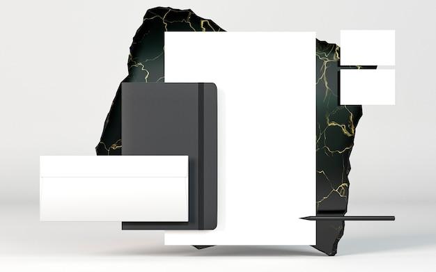 Arreglo de documentos de papelería de espacio de copia