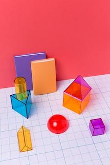 Arreglo geométrico con formas 3d