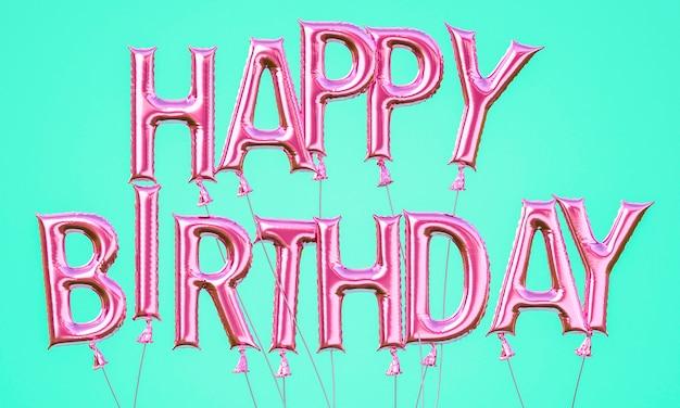 Arreglo de globos de feliz cumpleaños