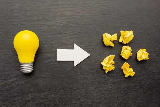 Arreglo de innovación abstracta vista superior