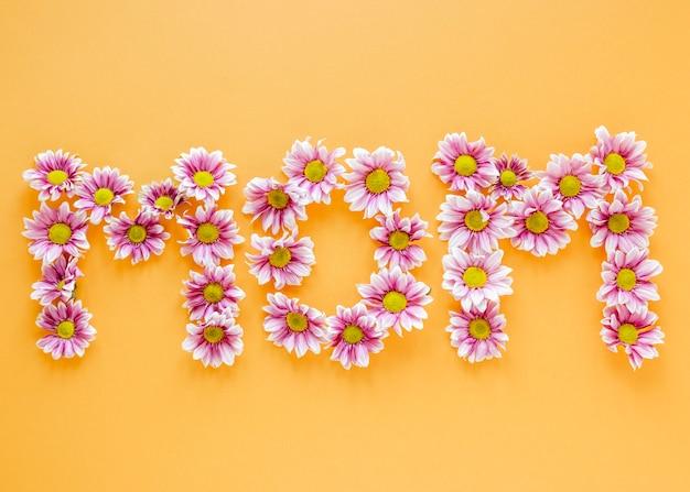 Arreglo plano de flores rosadas