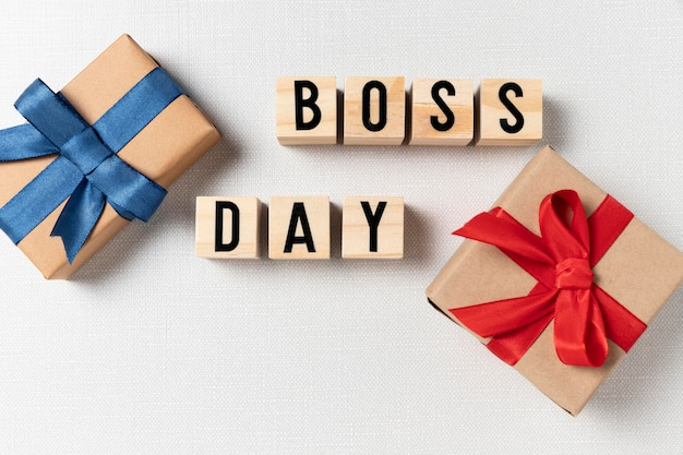 Arreglo de regalos del día del jefe