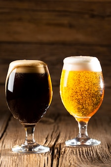Arreglo de sabrosa cerveza americana