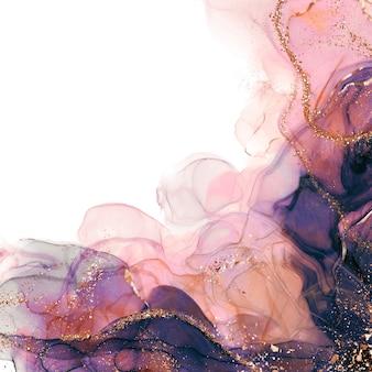 Arte abstracto fluido de tinta de alcohol de lujo