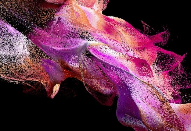 Arte abstracto con humo de color ondulado
