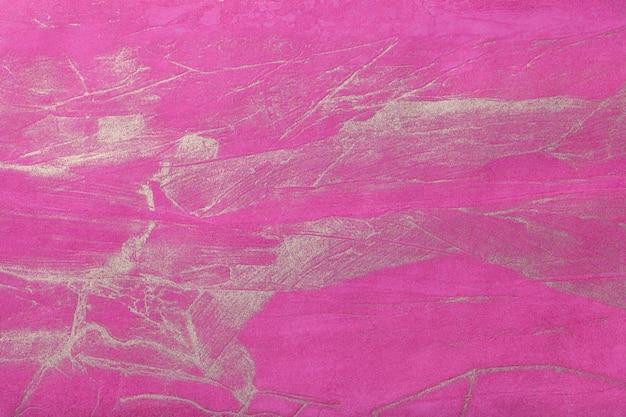 Arte abstracto púrpura oscuro con color dorado. pintura multicolor sobre lienzo.