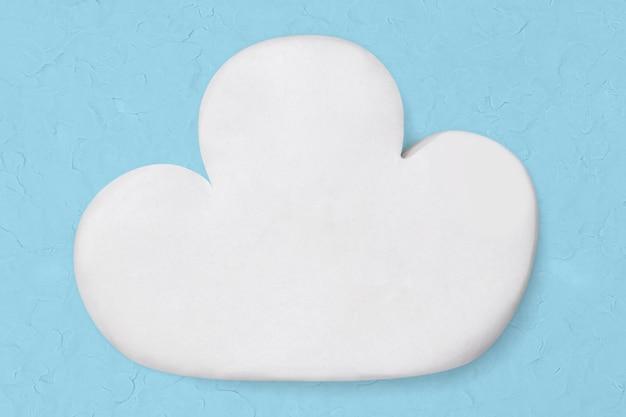 Arte de arcilla de nube blanca lindo gráfico de arte creativo hecho a mano
