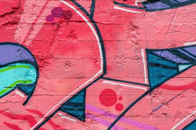 Arte callejero. graffiti colorido en la pared