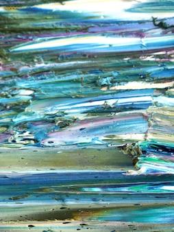 Arte colorido de la pincelada en el fondo del extracto de la lona y texturizado.