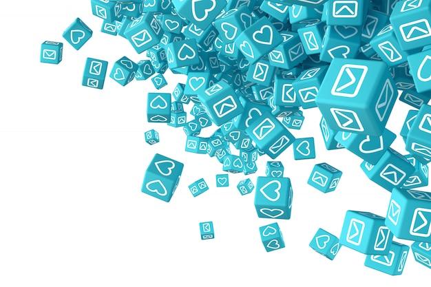 Arte conceptual sobre el tema de las redes sociales.