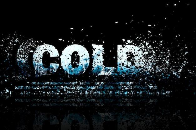 Arte de elemento de diseño de ilustración de fondo abstracto frío