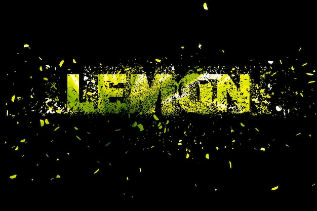 Arte de elemento de diseño de ilustración de fondo abstracto de limón