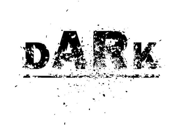 Arte de elemento de diseño de ilustración de fondo abstracto oscuro