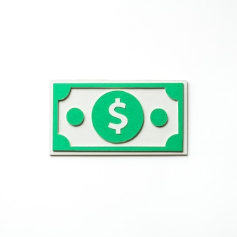 Arte de papel artesanal de un billete de un dólar.