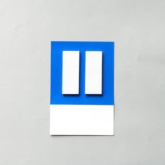 Arte de papel artesanal de botón de pausa.