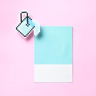 Arte de papel artesanal de un cubo de pintura.