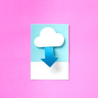 Arte de papel artesanal de descarga desde la nube.