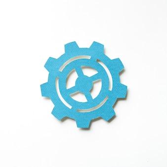 Arte de papel artesanal de icono de cog