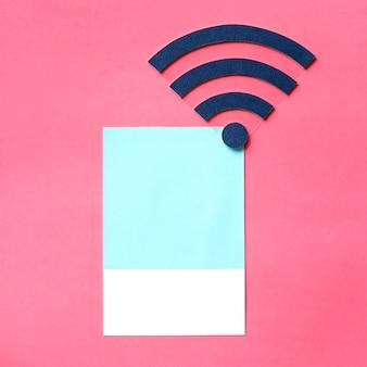 Arte de papel artesanal de señal wifi.