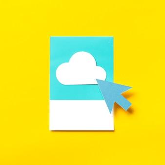 Arte de papel artesanal de transferencia a la nube.
