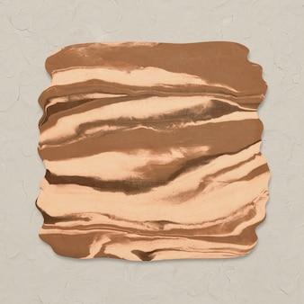 Artesanía de bricolaje de forma cuadrada de textura de mármol de arcilla marrón