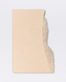 Artesanía hecha a mano de papel rasgado en tono tierra beige.
