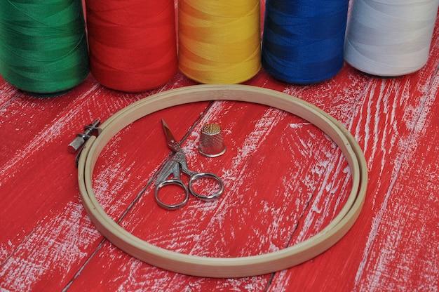 Artículos para costura y bordado.