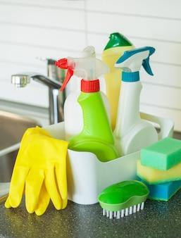 Artículos de limpieza hogar cocina cepillo esponja guante