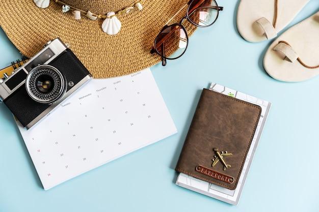 Artículos de viaje y calendario