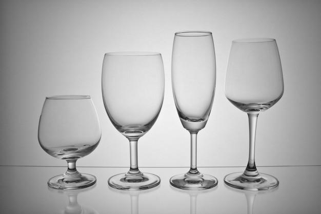 Artículos de vidrio de martini de vino de cristal transparente
